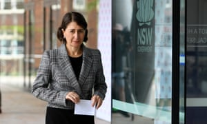 NSW premier Gladys Berejiklian leaves after addressing the media at a Covid update press conference in Sydney, Saturday, 2 January 2, 2021.