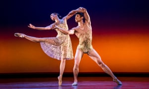 Lauren Cuthbertson and Ryoichi Hirano in Christopher Wheeldon's Within the Golden Hour.