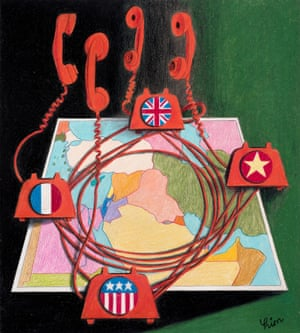 Cover design for New Middle East by George Him.
