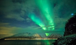 The sky in arctic region of Lapland, Finland