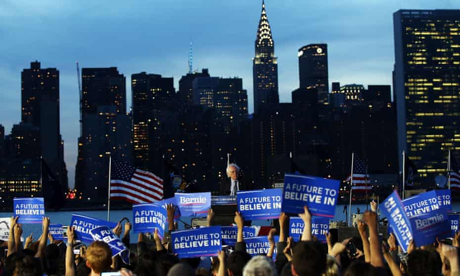 Socialism on the rise? Bernie Sanders holds a rally in New York, 2016.