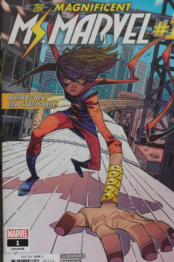In love with her best friend … Ms Marvel as seen on a comic cover.
