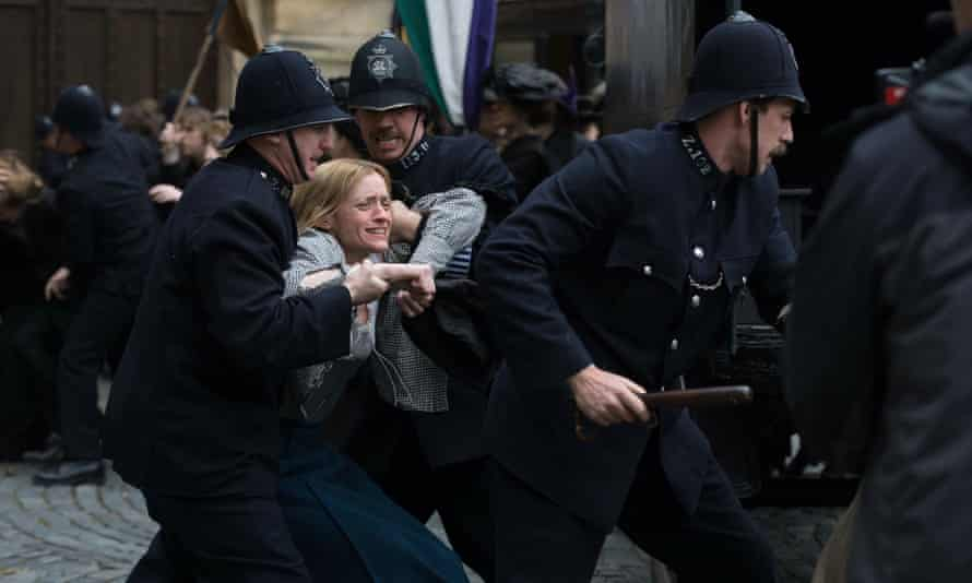 A scene from the 2015 film Suffragette