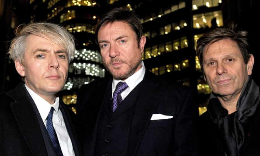 Duran Duran members Nick Rhodes, Simon Le Bon and Roger Taylor