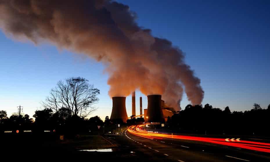 Smokestacks of Loy Yang Power Station in Traralgon, Victoria