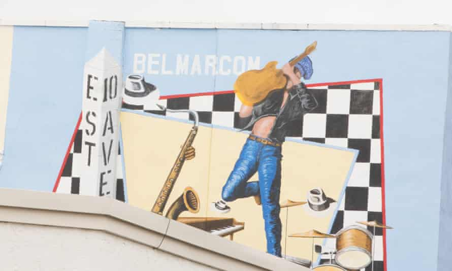 A mural in of Belmar, New Jersey, where E Street is located and after which Springsteen named his band.