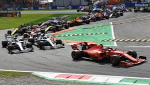 Charles Leclerc of Monaco driving the (16) Scuderia Ferrari.