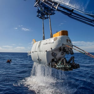 The tiny submersible research pod is large enough for research but too small for creature comforts such as seats – or a toilet.