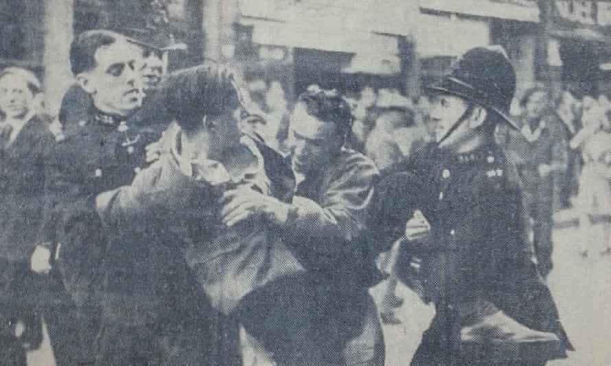 Hecklers arrested in Ridley Road, east London, in 1947.