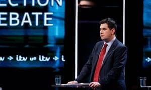 Richard Burgon in the ITV election debate.