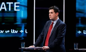 Richard Burgon, the shadow justice secretary, in the ITV election debate. He has confirmed he is standing for the Labour deputy leadership.