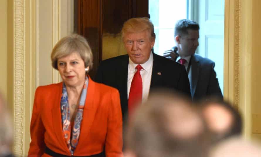 Theresa May with Donald Trump