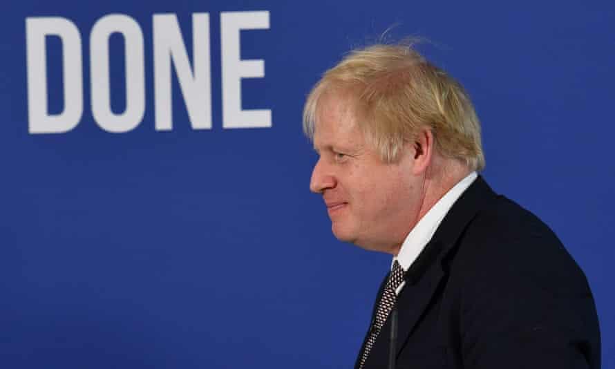 Boris Johnson at a press conference about Brexit, London, November 2019