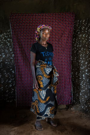 Hannah Barchue in Morris Town, Rivercess county, Liberia