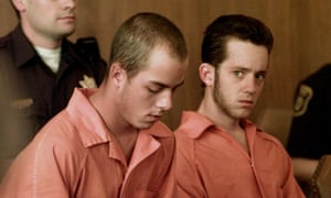 Russell Arthur Henderson, 21, and Aaron McKinney, right, 22, in Albany County Court in Laramie.