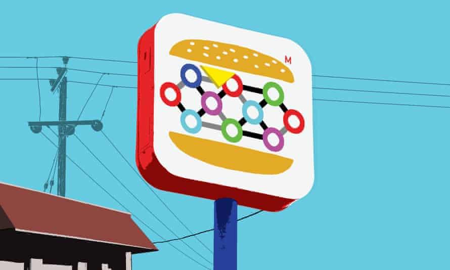 A synthetic burger restaurant.