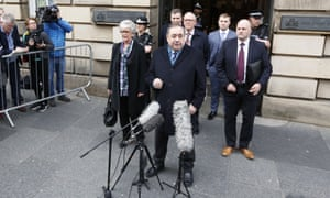 Alex Salmond speaks outside the high court in Edinburgh after he was cleared of sex-related offences