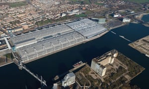 An aerial view of the ExCel centre