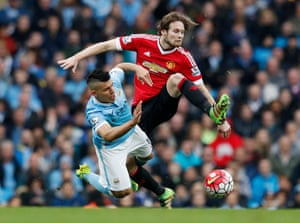 Aguero clashes with Blind.