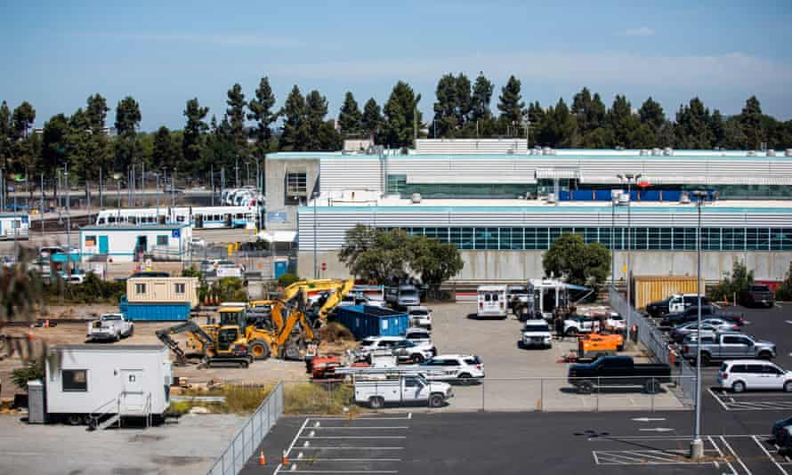 The Valley Transportation Authority (VTA) light rail yard where the shooting occurred.