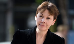 Co-leader of Britain's Green Party, Caroline Lucas