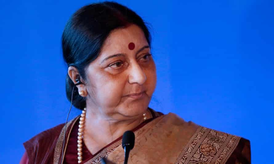 Sushma Swaraj received tweets calling her a traitor and demanding her resignation.
