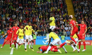 Even still, in the 54th minute, Carlos Sánchez of Colombia bundles Harry Kane to the ground in the box. It's right under the referee's nose and he rightly awards a penalty.