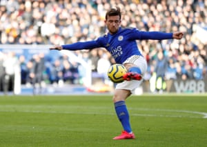 Leicester City's Ben Chilwell in action.