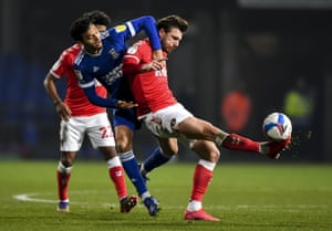 Ipswich's Andre Dozzell struggles to find a way through against Charlton last Saturday.