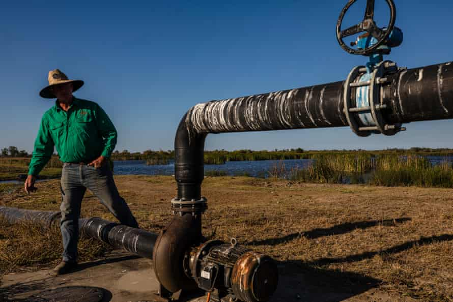 Gary Spotswood has installed a pumping system to reduce the run-off from his land to the reef.