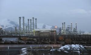 The heavy water nuclear facility near Arak, Iran.