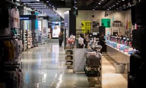 A few customers visit Primark's Tottenham Court Road store in London earlier this week