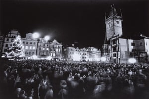 29 December 1989, 17:45: Czech people gather in Prague's Old Town Square to celebrate and dance at a 'Ball of National Understanding'