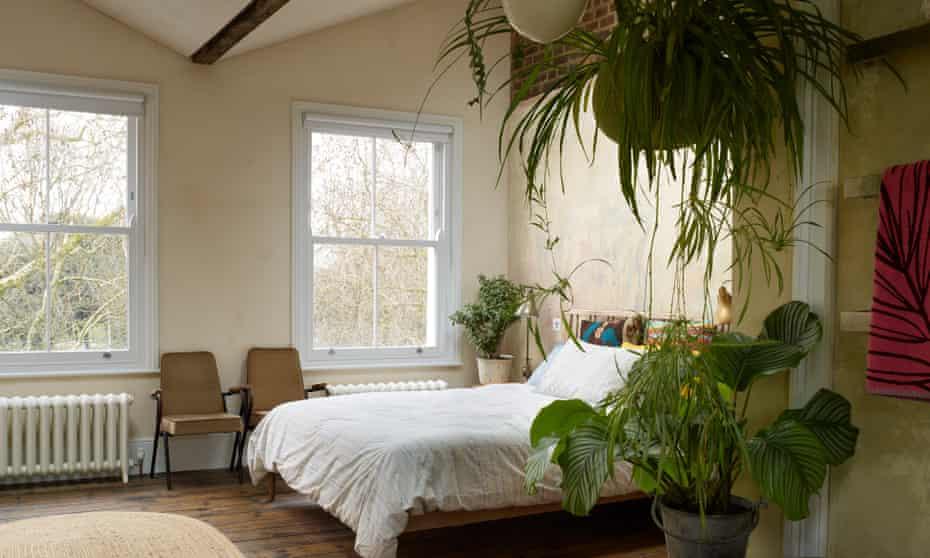 Sweet dreams: the main bedroom.