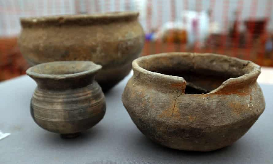 Pots recovered from the site.