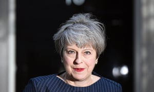 Theresa May calls a snap general election for 8 June outside No 10 in April.