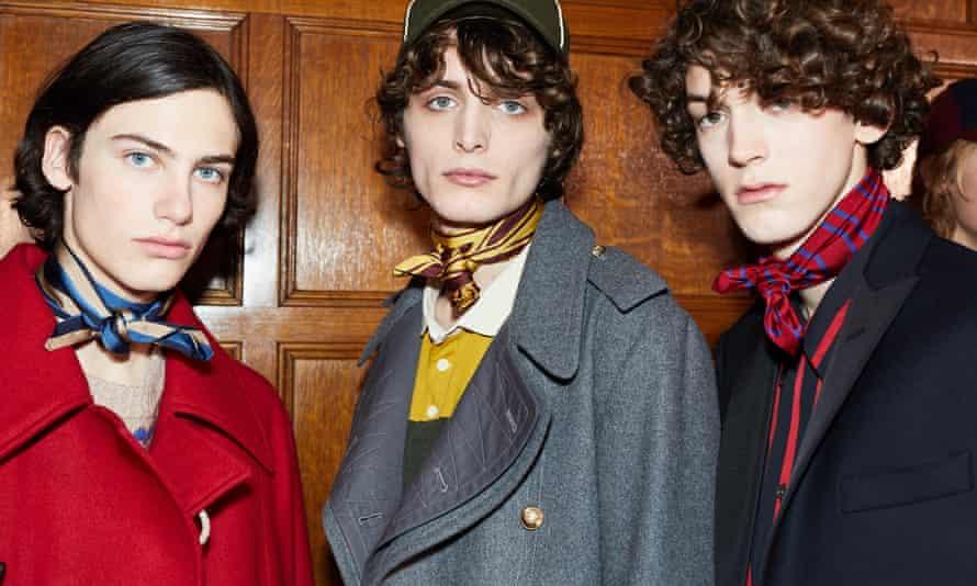 Models at the Kent & Curwen showcase