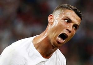 Portugal's Cristiano Ronaldo goes berserk in the last-16 defeat to Uruguay.