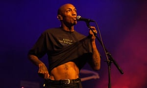 Tricky performing at Queen Elizabeth Hall in London.