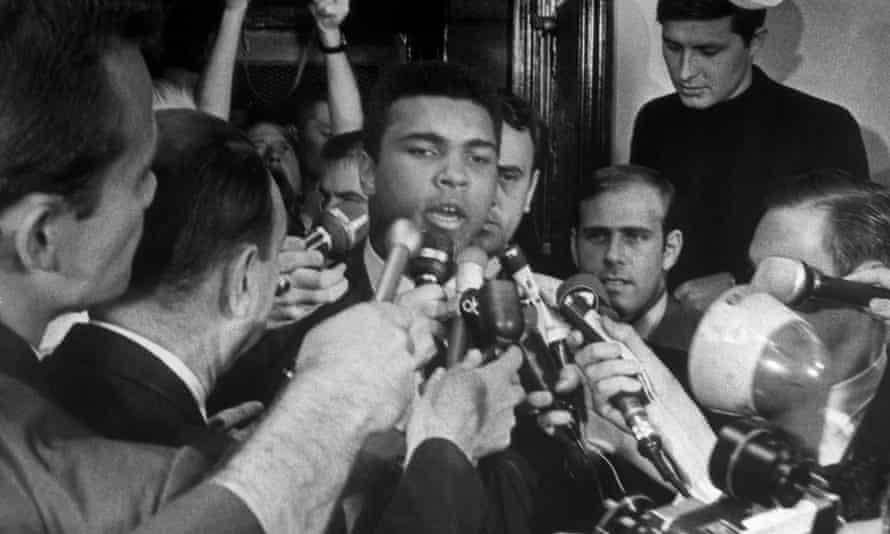 World heavweight boxing champion Muhammad Ali, then Cassius Clay, stating during a 1967 press conference that he would not fight in Vietnam.