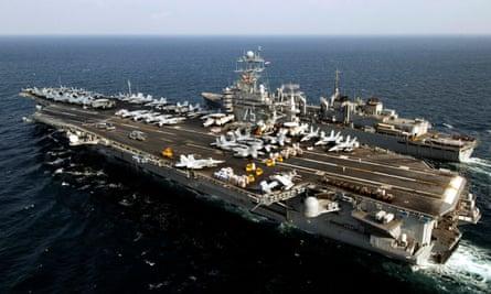 The aircraft carrier USS Harry S. Truman