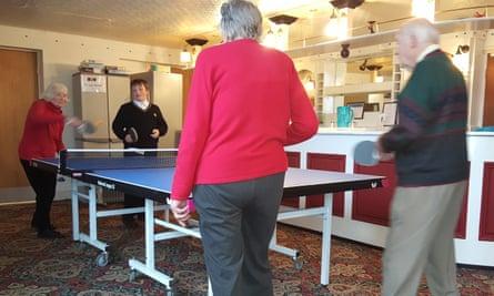 Intergenerational table tennis in Leeds
