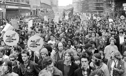 Anti-Nazi League demonstration in the Strand, London in 1978