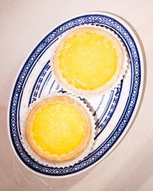 'Heavy on friable pastry, light on custard': egg custard tarts.