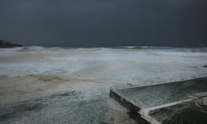 Bondi beach is battered by wild weather. Photo by Brendon Thorne/Getty Images