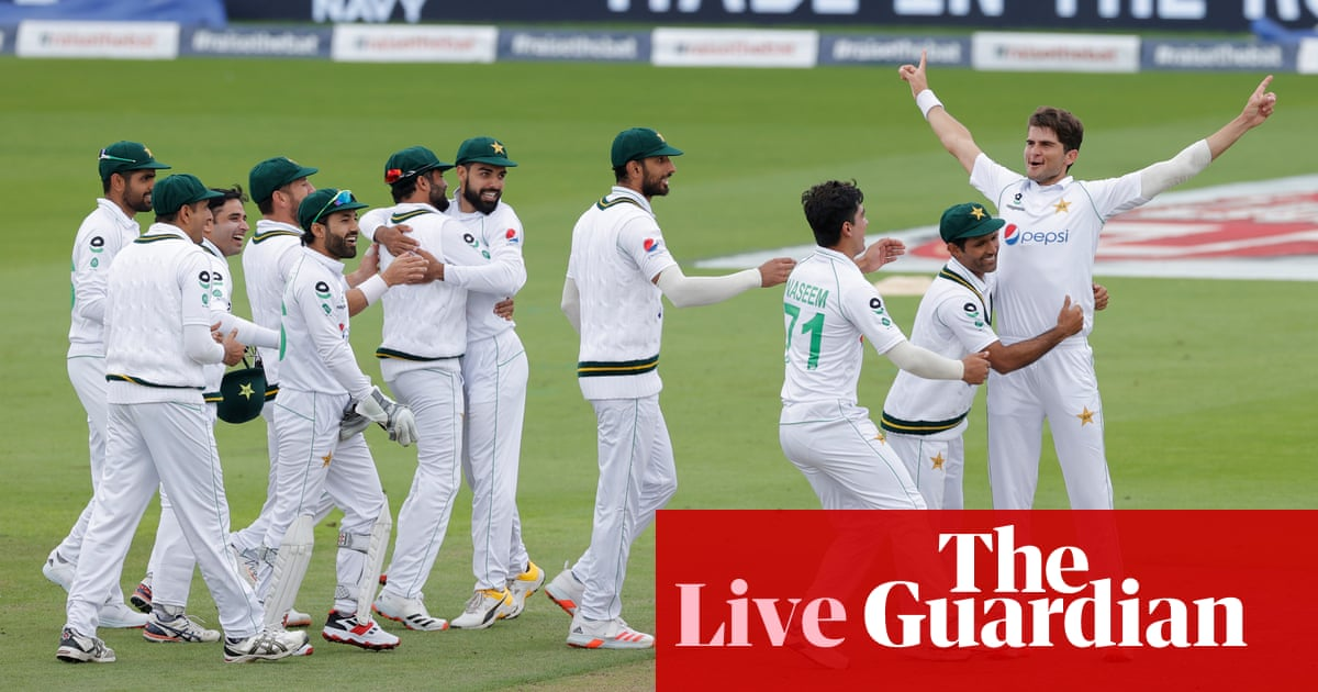England v Pakistan: first Test, day two – live!