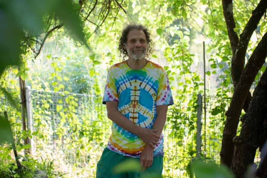 Benny Zable, 75 at his home in Nimbin, NSW
