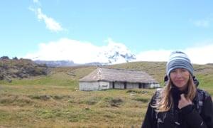Andrea Wulf on top of Antisana volcano in Ecuador