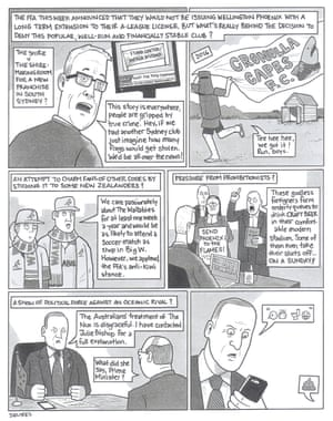 David Squires on the A-League's decision not to grant Wellington Phoenix a 10-year licence.