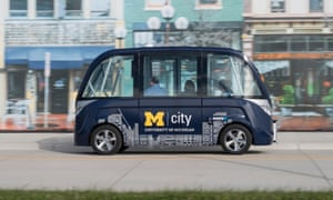 The University of Michigan introduced an on-campus self-driving shuttle system last year.
